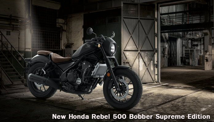 New Honda Rebel 500 Bobber Supreme Edition