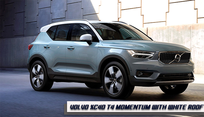 Volvo XC40 T4 Momentum with White Roof